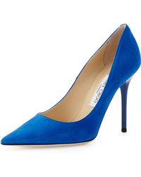 Jimmy Choo Abel Suede Pointtoe Pump - Lyst