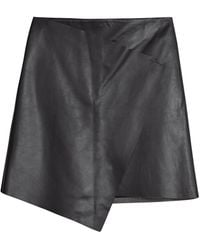 Peridot London Randall Leather Skirt - Lyst