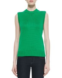 Michael Kors Sleeveless Air Spun Shell - Lyst