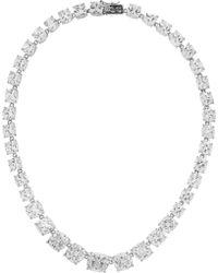 Kenneth Jay Lane Rhodiumplated Cubic Zirconia Necklace - Lyst