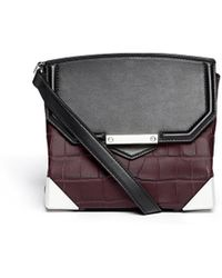 Alexander Wang Prisma Croc Embossed Crossbody Bag - Lyst