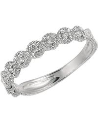 Morris & David - Diamond And 14k White Gold Band Ring, 0.2 Tcw - Lyst