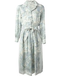 Nina Ricci Vintage Arabesque Printed Dress - Lyst