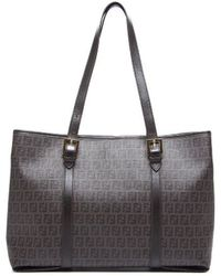 Fendi Preowned Brown Zucca Work Tote Bag - Lyst