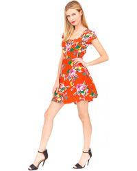 Yumi Kim Tammy Floral-Print Silk Dress red - Lyst