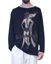 Yohji Yamamoto | Black Yohji Long-sleeved T-shirt | Lyst
