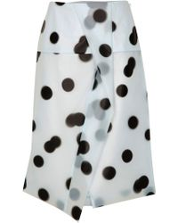 Marc By Marc Jacobs Blurred Dot Misty Skirt - Lyst