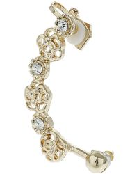 Topshop Flower and Rhinestone Earcuff Clear - Lyst