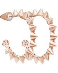 Eddie Borgo Mini Cone Small Hoop Earrings - Lyst
