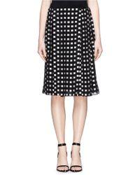 Proenza Schouler Fil Coupé Silk Pleat Skirt black - Lyst