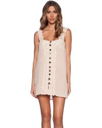 Jen's Pirate Booty Italian Mini Dress beige - Lyst