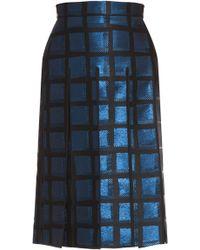 Kenzo Lurex Pleat Cut Out Skirt - Lyst