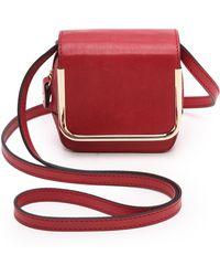 Carven Mini Leather Handbag  Rosewood - Lyst