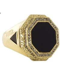 House Of Harlow Enlightening Octagon Cocktail Ring - Lyst