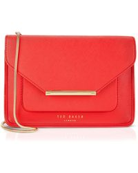Ted Baker Crossbody - Isla Patent Crosshatch - Lyst