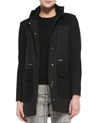 Theory Alanso Cotton Makintosh Coat - Lyst