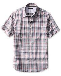 Banana Republic Slim-Fit Plaid Short-Sleeve Shirt - Lyst