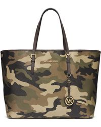 Michael by Michael Kors Jet Set Leather Medium Travel Tote Bag - Lyst