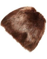Badgley Mischka | Faux Mink Hat | Lyst