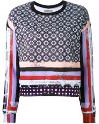 Clover Canyon - Mixed Print Sweatshirt - Lyst