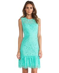 Shoshanna Blue Lace Dress - Lyst