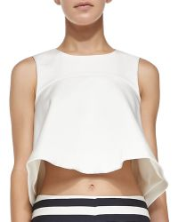 Cameo - Fluted Jersey Cropped Top - Lyst
