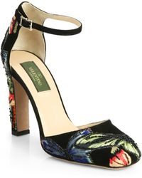 Valentino Camu Crystal Butterfly Pumps - Lyst
