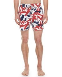 Vilebrequin Mens Pandaprint Moorea Swim Trunks - Lyst
