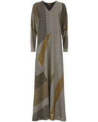 Missoni Patchwork Lurex Kaftan Dress - Lyst