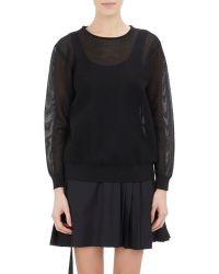 Tim Coppens Mesh Long-Sleeve Top - Lyst