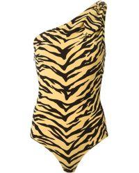 Moschino Zebra Print One-piece Bathingsuit - Lyst