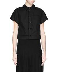 Proenza Schouler Cotton Poplin Cropped Shirt - Lyst