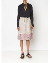 Dosa - Mixed Print Drawstring Skirt - Lyst