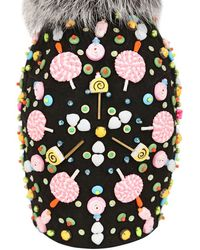 Manish Arora Candy Mix Embellished Suede Hat - Lyst