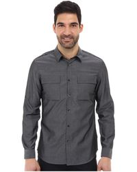 Calvin Klein Ls Chambray Roll Up Woven Shirt - Lyst