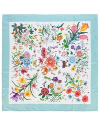 Gucci Printed Silk Neckerchief - Lyst
