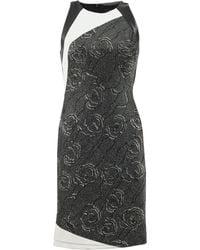 J. Mendel Halter Dress With Leather Back - Lyst