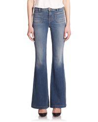 J Brand Demi High-Rise Flare Jeans blue - Lyst