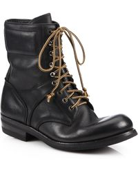 Ralph Lauren Gavin Distressed Leather Lace-Up Boots - Lyst