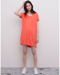 Pull&Bear Short-Sleeve Dress - Lyst