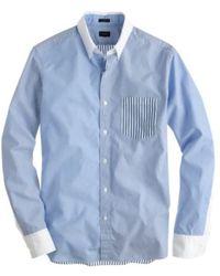 J.Crew Slim Secret Wash White-collar Shirt in Multi Blue Stripe - Lyst