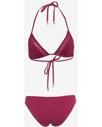 Ephemera Mesh Detail Triangle Bikini pink - Lyst
