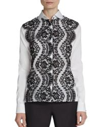 Dolce & Gabbana Scalloped Lace Overlay Shirt - Lyst