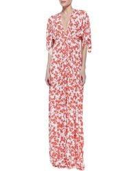 Rachel Pally Print-jersey Maxi Caftan Dress - Lyst