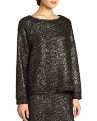 Alice + Olivia Mayer Boxy Metallic Top - Lyst
