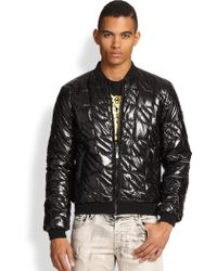 Versace Jeans Quilted Puffer Jacket - Lyst