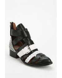 Jeffrey Campbell Level Up Cutout Ankle Boot - Lyst
