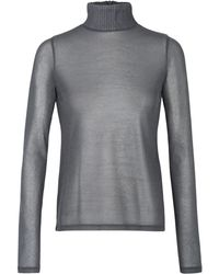 Dorothee Schumacher   silver Touch Of Glitter Shirt Turtleneck 1/1   Lyst
