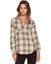 Anine Bing Plaid Shirt - Lyst