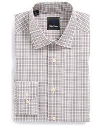 David Donahue Regular Fit Plaid Dress Shirt - Lyst